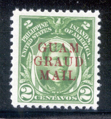 "gmm07h3. Guam Guard Mail M7a ""GRAUD"" Error unused LH VF-XF Jumbo. Scarce (500 issued) & Attractive Error!"