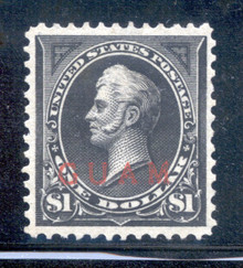 gm12d2. Guam 12 unused OG VF-XF. Exceptional example of this Scarce stamp!