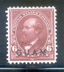 gm06d. Guam 6 unused OG VF-XF. Large balanced margins, Choice!