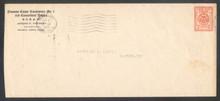 czu09s8. Canal Zone U9/13 entire with illustrated Masonic CC Used Balboa 5-9-27 to Gatun Very Fine. Scarce & Attractive Masonic cover!