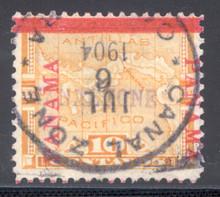 cz003b3. Canal Zone 3 used F-VF+. Culebra, 7-6-1904, cds. Nice used example! Ex-Dick Salz.