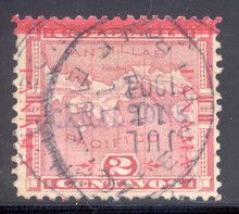 cz001b5. Canal Zone 1, used, F-VF+. EMPIRE, 7-11-04, cds. Scarce & Attractive used example!