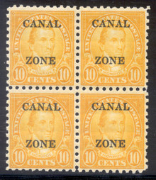 cz099e2. Canal Zone 99, Block of 4, Unused, 1 LH/3 NH, Very Fine. Fresh & Attractive Block!