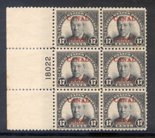 cz091f2. Canal Zone 91, Plate Block of 6, Unused, 1 LH/5 NH, VF-XF. Excellent Block!