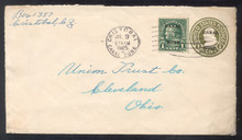 czu06u3. Canal Zone U6 used with #71, Cristobal, 7-9-25, to U.S. Attractive & F-VF.