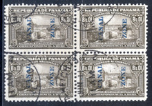 czj11Cc. Canal Zone J11C Block of 4 used Very Fine.