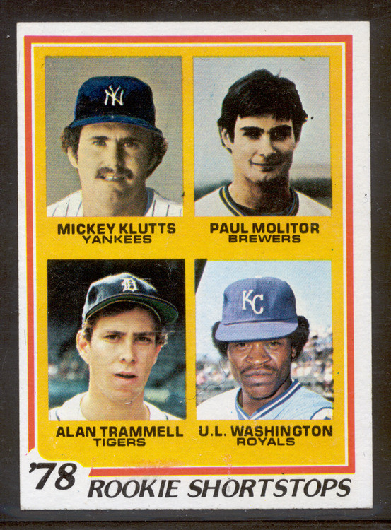 Baseball 1978 Topps 707 Paul Molitor Alan Trammell Rookie Card Nrmt Mt A Choice Card
