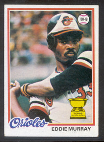 Baseball 1978 Topps 36 Eddie Murray Rookie card. NRMT and Beautifully Centered!!