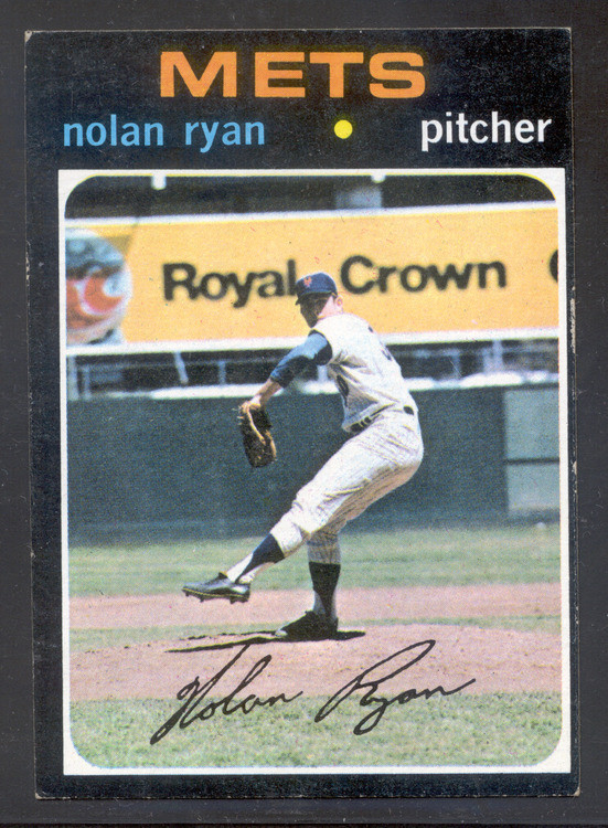 Baseball 1971 Topps 513 Nolan Ryan New York Mets Hall Of Fame Pitcher Classic Card Of Ryan