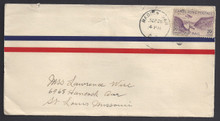 czc11c. Canal Zone C11 cover MADDEN DAM, 9-26-32, commercial airmail to U.S.