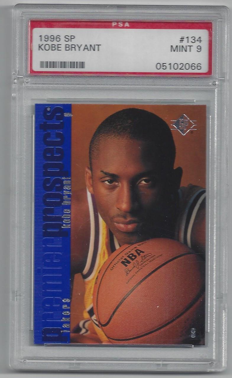 Basketball 1996 Sp 134 Kobe Bryant Rookie Card Los Angeles Lakers Guardforward Psa Graded Mint 9