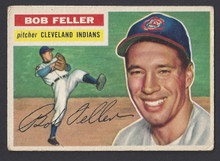 BASEBALL 1956 TOPPS 200 BOB FELLER HOF PITCHER CLEVELAND INDIANS VF-EX CARD