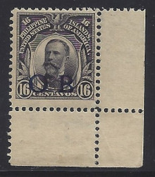 """piob247f3. Philippines 247 variety with Dark Blue Constabulary """"OB"""" Overprint. Unused, NH, Fresh & VF corner margin copy. Outstanding Example! Scarce Dark Blue Bandholtz """"OB"""" Overprint, only 500 issued!"""