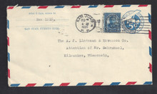 pruc2var. Puerto Rico post office request corner card on US #UC2var (UPSS #AM-9) used with US 5c (#637) San Juan, 2-2-35, to US. Very Scarce & Desirable!