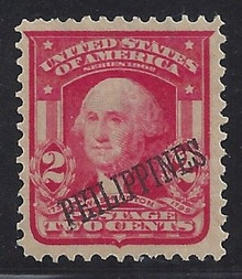 "pi240e3. Philippines 240 variety ""PEILIPPINES"" overprint Unused Very Fine. Scarce & Desirable Error!"
