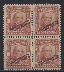 pi233g6. Philippines 233 Block of 4 Unused LH Fresh & Very Fine+. Scarce & Attractive Multiple!