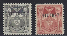 pi495c3. Philippines 495-496 Mint Never Hinged Fresh & Very Fine. Scarce & Attractive High Values!