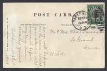 "cz022o3. Canal Zone 22 TABERNILLA 9-22-1908 on PPC depicting ""Native Orchid"" to US. Nice use of Scarce town cancel!"