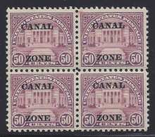 cz080c6. Canal Zone 80 block of 4 unused part OG Fresh & VF-XF. Bright & Attractive!