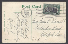 cz042e3. Canal Zone 42 on PPC tied by ANCON 3-11-1915 to U.S. Nice usage.