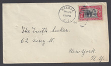 cz043e3. Canal Zone 43 on cover tied by BALBOA 4-26-1915 to U.S. Nice postal history.