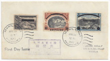 pin06ac3. Philippines Japanese Occupation N6a DOUBLE OVERPRINT on FDC with N2 & N7 Manila 4-30-43 with PF Cert. Rare Error on cover!