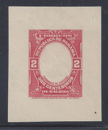 czu02c. Canal Zone U2c Frame Only Error unused F-VF Cut Square. Rare & Desirable! Minor defects.