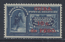 cbE1c5. Cuba E1 Special Delivery stamp unused Lightly Hinged Fresh & VF-XF. Superbly Centered Jumbo!