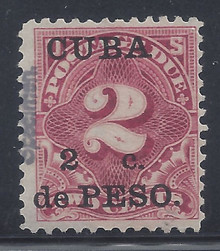 cbj2s3. Cuba 1899 2c on 2c Postage Due stamp SPECIMEN J2S unused F-VF MD. Scarce!