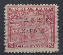 "cz010f2. Canal Zone 10 variety Spaced ""A-L"" used F-VF+. Scarce Variety, only 1677 issued!"