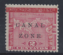 "cz011g3. Canal Zone 11 variety unused LH F-VF+. Spaced P-A in R PANAMA. Broken ""N"" in CANAL. Scarce position piece!"