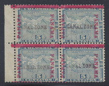 cz002c8. Canal Zone 2 & 2 variety in block of 4 unused OG Fine+. PF certificate.