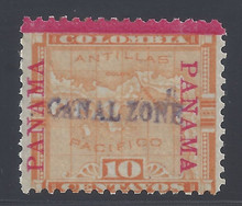 cz003a3. Canal Zone 3 unused OG Fine. APES cert for block of 4. CV $400.