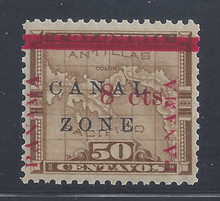 cz018c3. Canal Zone 18 Unused OG VF-XF. Outstanding Jumbo!