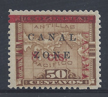 cz020e5. Canal Zone 20 variety 3mm between 8 & cts Unused LH VF-XF. Choice example of this elusive variety!
