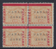 "cz013c3. Canal Zone varieties 13vars ""PANAWA"" at right and ""PANAMA"" 16mm in blk/4 unused OG Very Fine. Scarce Errors - only 400 of each issued!"