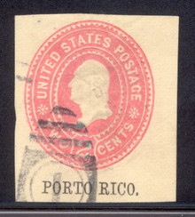pru06. Puerto Rico U6 cut square used Very Fine