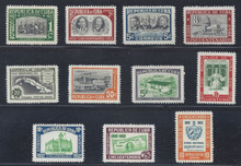 cb475e3. Cuba Republic 475-480, C57-C60 & E16 unused NH Fresh & VF-XF. Attractive Complete Set!