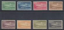 cbC004c3. Cuba Republic C4-C11 unused NH Fresh & Very Fine. Attractive Airmail Set Complete!