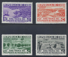 cbC018c5. Cuba Republic C18-C21 unused LH Fresh & VF-XF. Attractive Airmail Set Complete!