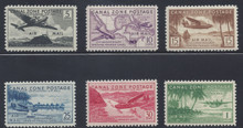 czc15c3. Canal Zone #C15-C20, unused, Never Hinged, Fresh & VF-XF. Choice set!