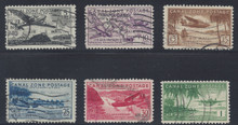 czc15c6. Canal Zone #C15-C20, used, Very Fine complete set. Difficult used!