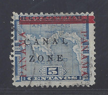 """cz012a7. Canal Zone 12a """"CANAL"""" in Antique type. Used Fine. Scarce Variety, only 2750 issued!"""