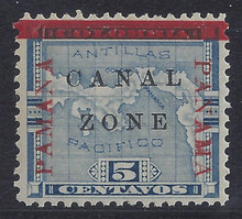 cz012g2. Canal Zone 12 variety PAMANA reading up. Unused OG Fresh and Very Fine. Lovely Example of this Variety!