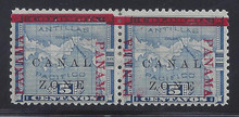cz012g5. Canal Zone 12 variety Right PANAMA 5mm Below Bar. Unused OG F-VF. Very Scarce Error, only about 800 issued!