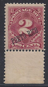 prj2e3. Puerto Rico J2a, unused OG Fine+. Fresh & Attractive!