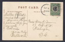 cz046h5. Canal Zone 46 on picture postcard Balboa 10-3-21 to US. Very Scarce Mt. Hope 2nd printing on fresh PPC.