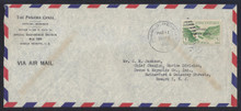 czco01g3. Canal Zone CO1 tied by Diablo Heights 3-12-48 duplex on Official Business Air Mail cover to U.S. Elusive and Desirable usage!
