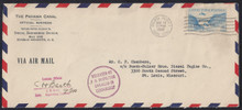 czco03g3. Canal Zone CO3 tied by Balboa Heights 5-18-42 cancel on Censored Official Business cover to U.S. Excellent example of Interesting Postal History item!