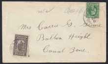 czj05g3. Canal Zone J5 tied by Balboa Heights 6-9-15 M.O.B. cancel on cover from Roseville MI 6-1-15. Scarce and Desirable Postage Due Usage!